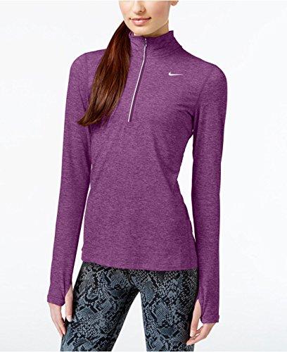 Nike Damen Element Half Zip Langarm-Laufoberteil Purple Dusk/Heather