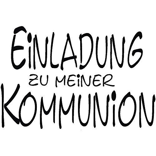 RAYHER 28837000, H.- Stempel Einladung zur Kommunion, 5 x 7 cm, Artikel 11704