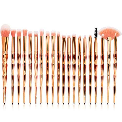 Mioloe 20pcs Maquillage Fondation Sourcils Eyeliner Blush cosmétique anticernes correcteur brosses pour Les Yeux en Plastique Ensemble Maquillage Kit de Pinceau