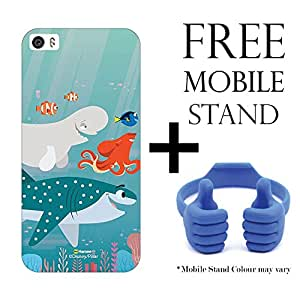 Hamee Disney Pixar Finding Dory Licensed Hard Back Case Cover For Xiaomi Mi5 Cover with Free Mobile Stand - Combo 32