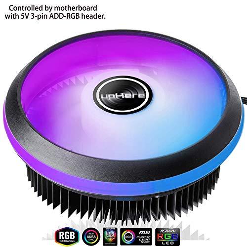 UpHere PWM LED ARGB 120mm Ventilador CPU Intel ACC92RGB