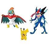 Pokemon Multipack / Heldenset oder Actionfigur / Sammelfiguren Ash - Quajutsu, Resladero / Hawlucha und Pikachu