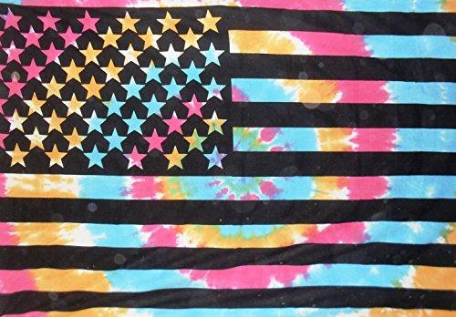 Tradicional Jaipur Twin Tie Dye la bandera americana Glorafilia, indio colgar en la pared, bohemio ropa de cama, hippie dormitorio decoración, Boho manta de Picnic manta, diseño de playa de bandera de Estados Unidos