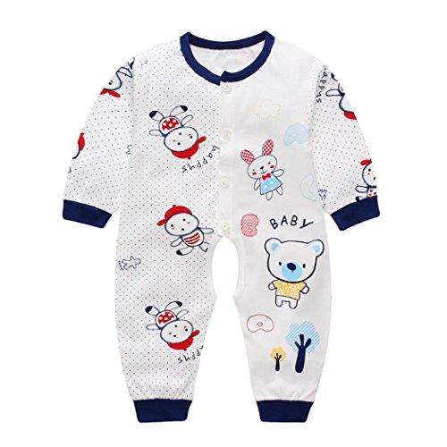 Xinantime - Recién nacido Pijama Bebés Algodón Niñas Niños Sleepsuit 1 Años (3-6 Meses, Armada)