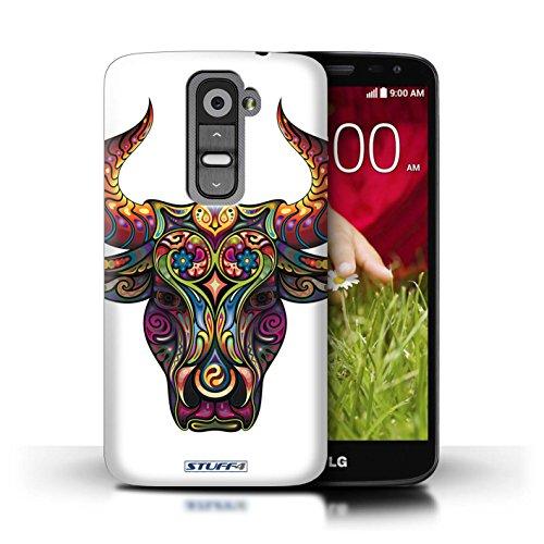 Kobalt® Imprimé Etui / Coque pour LG G2 Mini/D620 / Chouette conception / Série Animaux décoratifs Taureau