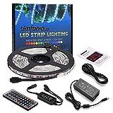 Strisce LED Luce 5m 5050SMD RGB 300LEDs Striscia LED Kit completo