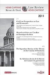 Revue de droit Henri Capitant 2011. Co-édition Dalloz / Lextenso