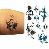 Satz von 2 nette kühle Elf-Engel-Körper-Tätowierung-Aufkleber-temporäre Tattoos