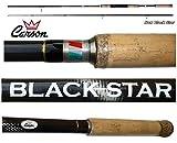 canna black star spinning 2.70m 30/80g pesca luccio barracuda spigola serra mare carbonio