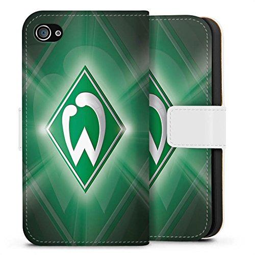 Apple iPhone 6s Hülle Silikon Case Schutz Cover Werder Bremen Fanartikel SV Fußball Sideflip Tasche weiß