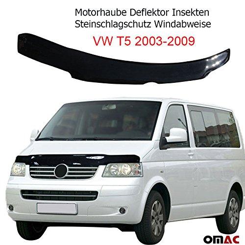 Motorhaube Deflektor Insekten und Steinschlagschutz Windabweiser VW T5 2003-2009