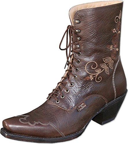 Stars & Stripes Western-Boots »ROSI« Braun (37) (Rindsleder Western-boot Braun)