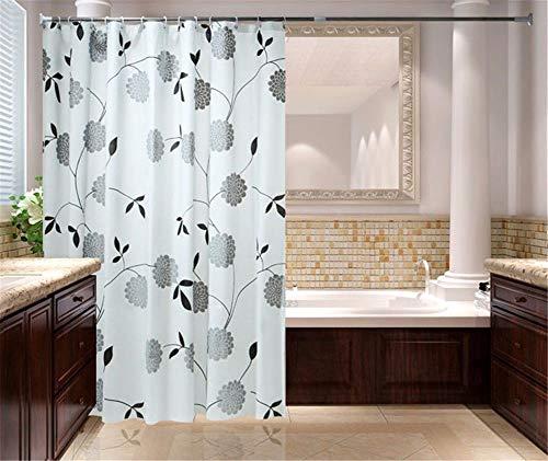YMFIE Im europäischen Stil wc wasserdicht Verdickung Mehltau Nachweis Duschvorhang Badezimmer Zubehör, 120 cm x 200 cm (Spinnen Im Wc)