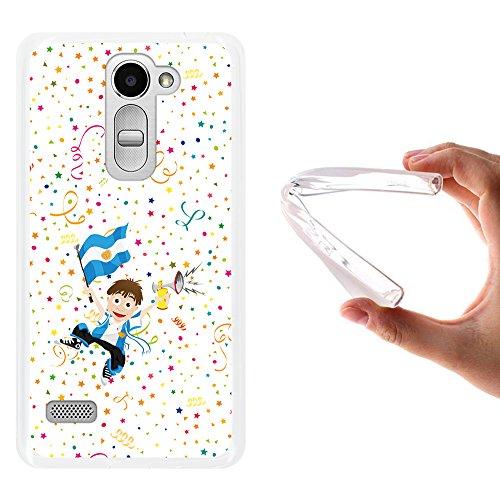 WoowCase LG Ray Hülle, Handyhülle Silikon für [ LG Ray ] Fußbalfan Argentinien Sportsselektion Handytasche Handy Cover Case Schutzhülle Flexible TPU - Transparent