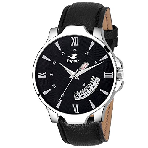 Espoir Analog Day and Date Black Dial Boy's & Men's Watch - InfinityHammer0507