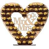 ASVP Shop® Mr & Mrs Ferrero Rocher-hjärta, ställning/bordsarrangemang i trädstruktur för bröllop