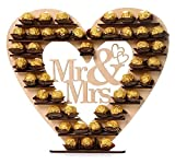 ASVP Shop® Mr & Mrs Ferrero Rocher Heart Tree Wedding Display Stand Centrepiece by ASVP Shop