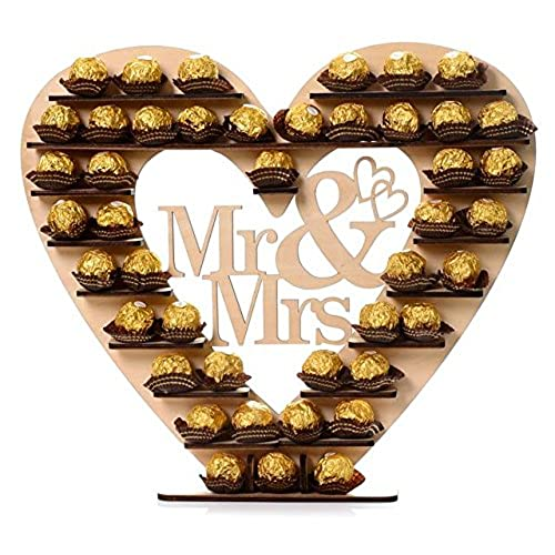 Wedding centerpieces for tables amazon asvp shop mr mrs ferrero rocher heart display stand centerpiece perfect for parties weddings candy bars junglespirit Images