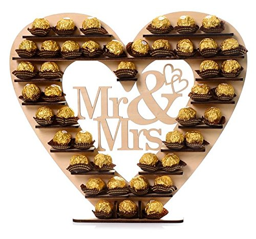 "Rocher Herz ""Mr + Mrs"""