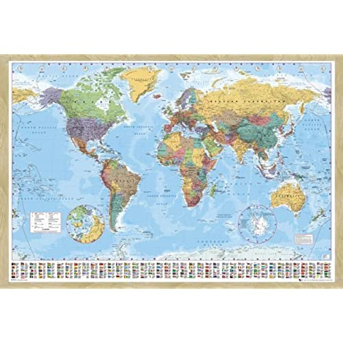 World map pin board amazon world map pin board framed in oak wood includes pins 965 x 66 cms approx 38 x 26 inches gumiabroncs Choice Image