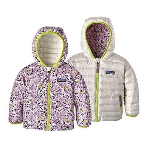 Patagonia Baby Reversible Down Sweater Hoody Flurry Floral: Dragon Purple 5T (Kids) (Sweatshirts Reversible Hoody)