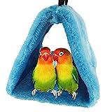 Bello Luna Nido d'uccello blu pappagallo nido d'inverno caldo amaca appendere grotta gabbia felice capanna tenda(M)