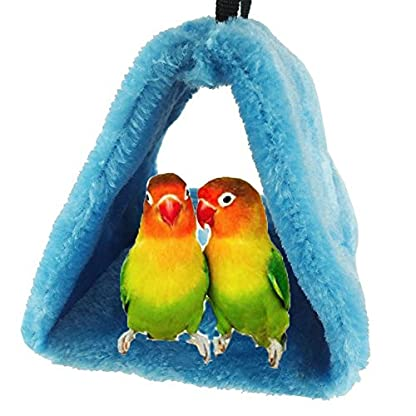 Bello Luna Blue Parrot Nest Pet Bird Nest Winter Warm Hammock Hanging Cave Cage Plush Happy Hut Tent Bed(S) 1