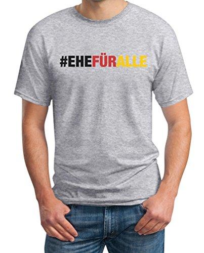 #EHEFÜRALLE - Ehe für alle, und zwar jetzt T-Shirt Grau