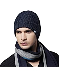 44c44e627f4 Kenmont Men Winter Warm Ski Outdoor Wool Knit Solid Color Beanie Hat Cap