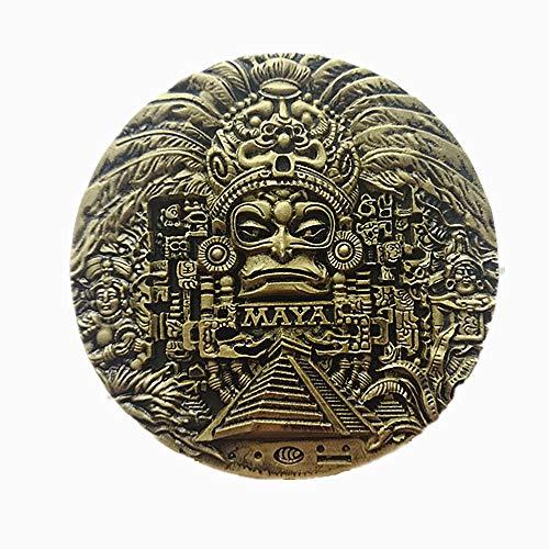 3D Maya Überreste Mexiko Kühlschrankmagnet, Home & Kitchen Dekoration, Magnet-Aufkleber, Polyresin Handwerk, Maya Mexiko Kühlschrankmagnet Reise Souvenir Geschenk (Mexiko-handwerk)
