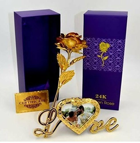 Gift Gallery Gold Plated Gold Rose with Gift Box and With Love...