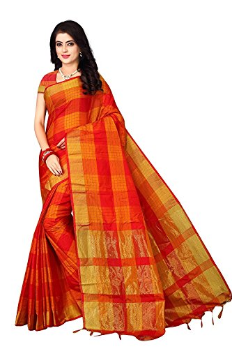 Nirmla Fashion Women's Cotton Silk Saree with Blouse Piece (saree for S1111_Multicolour_Free Size)