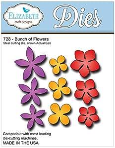 Elizabeth Craft Designs vari materiali metal die-bunch of Flowers