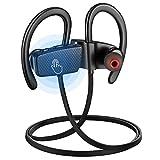 Bluetooth In-Ear Sport Kopfhörer, Wireless Bluetooth 4.1 Wasserdicht Kopfhörer,mit Berühren Steuerung /Dual-CSR-Chip-Rauschunterdrückung/HiFi Stereo Super bass/ 9 Stunden Spielzeit/Standby 600 Stunden, für iPhone, iPad, Samsung, Huawei, HTC und Mehr