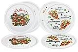 6er Set Pizzateller Napoli & Margherita groß - 32cm Porzellan