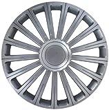 Autostyle Satz Radzierblenden Radical 16-Zoll Silber + Chrom Ringe
