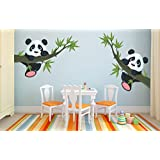 [Sponsored Products]ESP Creation Panda Hanging On A Branch Multicolor Removable Decor Mural Wall Stickers Decal Mural Wall Stickers Decal