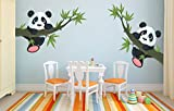 #10: ESP Creation Panda Hanging On A Branch Multicolor Removable Decor Mural Wall Stickers Decal Mural Wall Stickers Decal