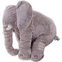 Colorfulworld Baby Elephant Stuffed Plush Pillows Grey Baby sleeping pillow plush toy elephant toy (Grande, Grigio)