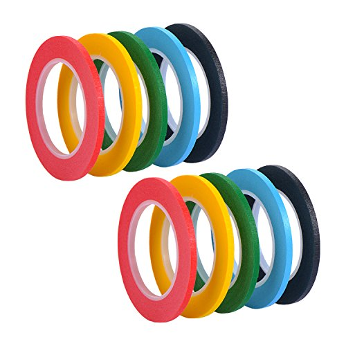 3 Stück Raster (10 Stück 3 mm x 13 m Linienband Markierungsband Whiteboard Raster Band Selbstklebendes Tape Artist Tape, 5 Farben)