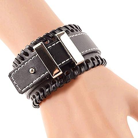 TENDENZE DELLA MODA stile punk braccialetto unisex multistrato Bracciale corda gioielli per uomini e donne - Metallo Link Guarda