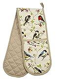 Vogel Zweige Gepunktet 100% Cotton Twill Doppel Topfhandschuh 17CM X 90cm