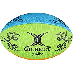 Gilbert Rugby Unisexe Multi Rugby Ballon de Plage, Multicolore, Taille 4
