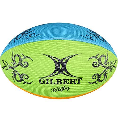 bc90315384119 Gilbert Rugby Unisex Multi Rugby Beach Ball, Mehrfarbig, Größe 4
