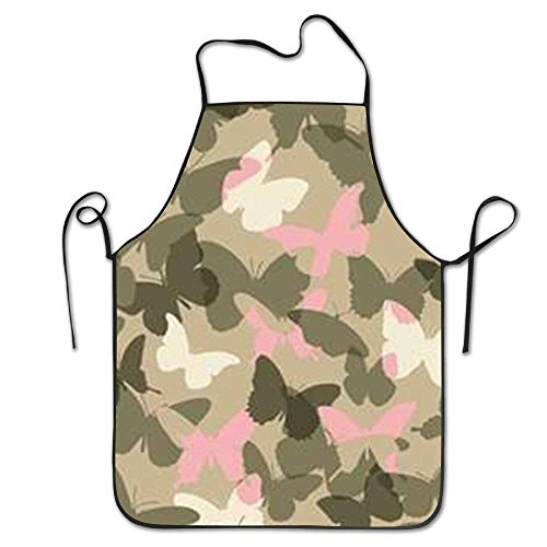 New Shorts Camouflage Butterfly Lock Edge Waterproof Durable String Adjustable Easy Care Cooking Apron Kitchen Apron for Women Men Chef 28.3
