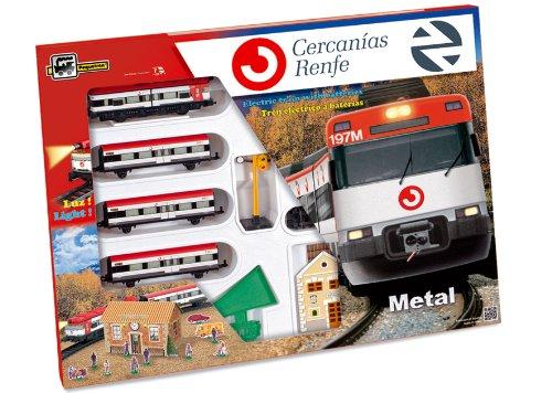 Servicios E Industrias Del Juguete 66-675 - Tren De Cercanias Renfe Metalico Con Luz