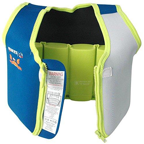 51Pnrd81qvL. SS500  - Mares Childs/Junior Floatation Swim Vest/Jacket. Blue/Grey. Age 2-4 Years.