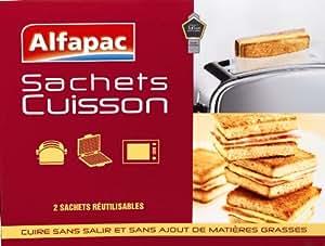 Alfapac - SC2 - Sac Cuisson - 2 Sachets - Grille Pain / Four - Lot de 2