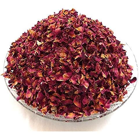 100gramos de secadora pétalos de rosa de color rojo oscuro (más grande pétalos) Real flor Confeti De Boda/fragancia para el hogar/Manualidades por Calmantes