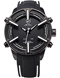 Shark Hombre Reloj de pulsera LED digital cuarzo reloj extragroß Carcasa Sport